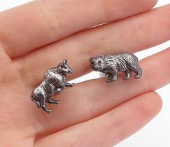 925 Sterling Silver - Vintage Wall Street Bulls & Bears Cuff Links - T2491 - $47.22