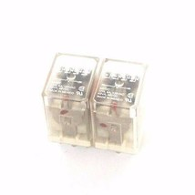 LOT OF 2 POTTER & BRUMFIELD KHU-17D11-24 RELAYS 24VDC, KHU17D1124