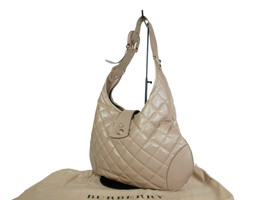 Auth Burberry Leather Beige Shoulder Bag BS16875L - $259.00