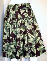 JONES NEW YORK Signature Skirt Autumn Brown & Green Leaves Size Petite 2P - $19.99