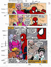 Original Spectacular Spider-man Marvel color guide art: Avengers foe Bar... - $99.50