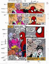 Original Spectacular Spider-man Marvel color guide art: Avengers foe Baron Zemo - $99.50