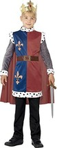 Smiffys Children's King Arthur Medieval Costume, Tunic, Cape & Crown, Ag... - $19.96