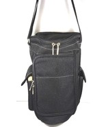 Picnic Time Insulated Triangular Wine Tote Cooler Black - $29.09