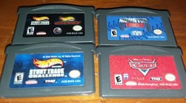 Lot of 4 Game boy advance Hot Wheels Stunt Track, Monster Trucks, Cars  - $11.88