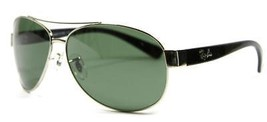 Very Rare Ray Ban 3386 003 Black Sunglasses Green Lens 63mm New and Auth... - $98.95