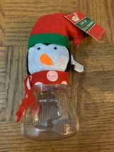 Christmas Penguin Candy Jar - $8.70