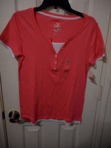 Women's Made For Life Short Sleeve Layered T Shirt Pink Size Medium NEW - $14.84