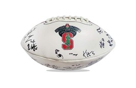 2015 Stanford Cardinal team signed football w/Certificate autographed (44) - $203.94