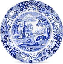 Spode Blue Italian Round Dinner Plate BLUE/WHITE Bone China Made In England New - $199.95