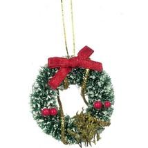 Dollhouse Christmas Wreath Snow - Berries - Bow IM65276 Miniature - $2.35