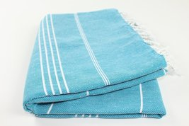 Turkish Towel Fouta Peshtemal for Beach Bath Spa Yoga Hammam Gym Pool Wrap Pareo - $23.26