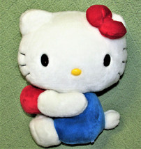 "10"" HELLO KITTY SANRIO STUFFED ANIMAL DOLL WHITE BLUE WITH RED BOW AND A... - $16.83"