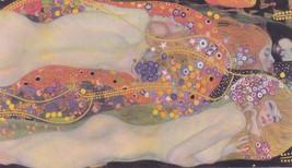 "Gustav Klimt ""Water Serpents II"" HD print on canvas large wall picture 3... - $26.72"