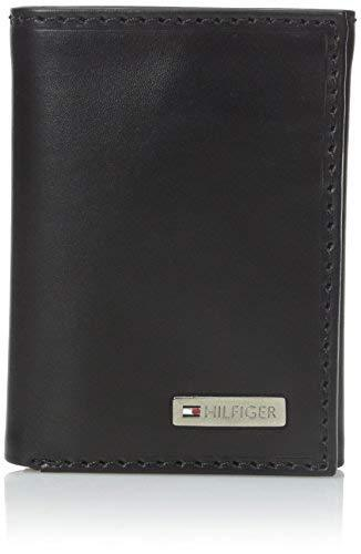Tommy Hilfiger Men's Leather Trifold Wallet,Fordham Black