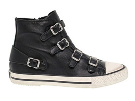 Sneakers ASH VIRGIN in black leather - Women's Shoes - $160.74