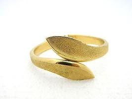 VTG TRIFARI Signed 1970's Book Piece Gold Tone Hinge Bracelet - $17.33