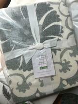 Pottery Barn Tula Duvet Cover Set Gray Queen 2 Standard Sham Suzani Embr... - $124.19