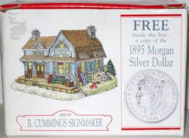 MIB 1997 LIBERTY FALLS B. CUMMINGS SIGNMAKER & 1895 MORGAN SILVER DOLLAR... - $14.85