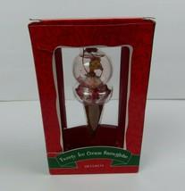 Tweety Ice Cream Snowglobe Christmas Ornament Looney Tunes Warner Bros S... - $12.16