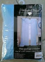 "Window Elements Diamond Sheer Voile Light Sky Blue Curtain Scarf, 56 x 216"" - $14.80"