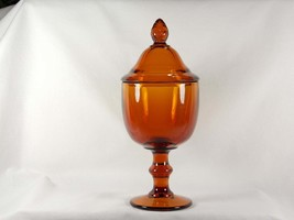 Imperial Glass Hoffman House Nut Brown Covered Candy Jar #464 aka Pokal,... - $49.00