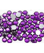 3mm SS12 Purple Amethyst A06 Acrylic Rhinestones For Face Painting, Lead... - $5.08