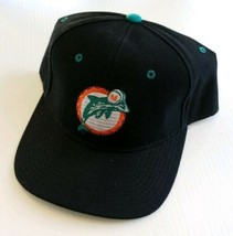 Miami Dolphins NFL Logo Athletic Vintage Fitted Wool Blend Hat 7 1/2 Bla... - $39.48