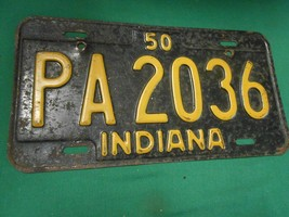 Great 1950 INDIANA License Tag......PA2036 - $25.81