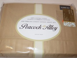 Peacock Alley 600tc Sateen 4P Queen Sheet Set New $780 - $237.45