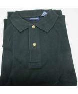 Men's Golf Shirt Harbor Bay Brand 2XL Big Black Color 100 % Cotton Side ... - $8.54