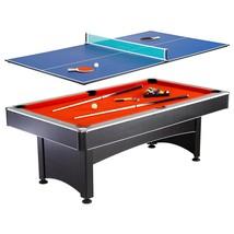 Hathaway Pool-Table Tennis Multi-Game Set 7 ft. Boasts Durable Resin Woo... - $624.69