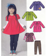 DRESS TOPS LEGGINGS Bodice Sleeve Variations | Child 1-3  | UNCUT Sewing... - $9.84