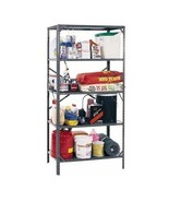 5 Shelf Metal Storage Rack Steel Shelving Adjustable Light Duty 36 x 16 ... - $62.27