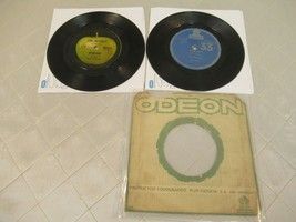 "Beatles Don't Let Me Down Hello Goodbye Uruguay 7"" Vinyl Record Lot of 2 G - $38.69"
