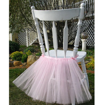 Any Color Chair Decor TUTU Skirt Wedding Table Chair Decoration for Parties XMAS image 3