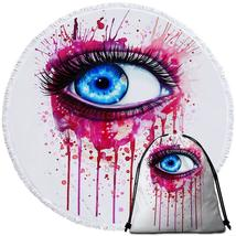 Art Painting Eye Beach Towel - $12.32+