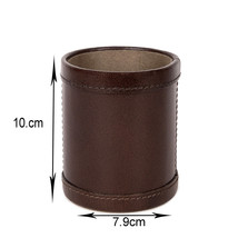 Luxury Handcrafted Leather Pens Pencils Holder Premium Quality Cup Desktop  - $42.00