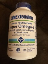 Life Extension Super Omega 3 With Sesame Logjams & Olive Extract 120 Ct Exp 6/21 - $14.36