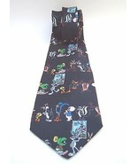 1997 Looney Tunes stamp Collection Tie bugs tweety daffy porky taz road ... - $14.82