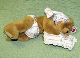 "VINTAGE TY ATTIC TREASURES PRESCIOUS TEDDY BEAR 12"" 1993 SLEEPY PILLOW J... - $14.85"