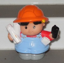 Fisher Price Current Little People construction worker with phone FPLP - $3.00