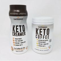 Cafegenix Combo 2 Pack 7.9 Oz Keto Coffee and Keto Creamer Non-GMO ~ Sug... - $39.95