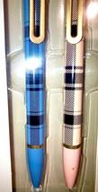 The Monterey Retractable Ballpoint Pens Blue Plaid Pink Plaid - $24.63