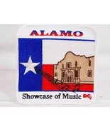 Alamo Showcase of Music DC Texas Flag Sew On Embroidered Patch Applique NEW - $4.94