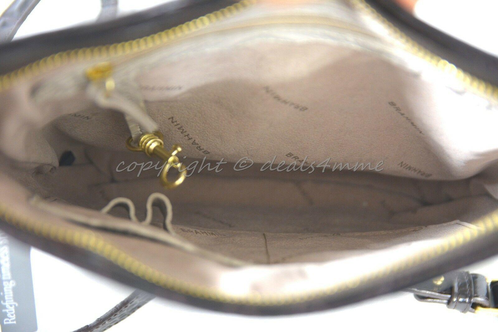 NWT Brahmin Jody Striped Cross-Body/Shoulder Bag in Angora Vineyard image 10