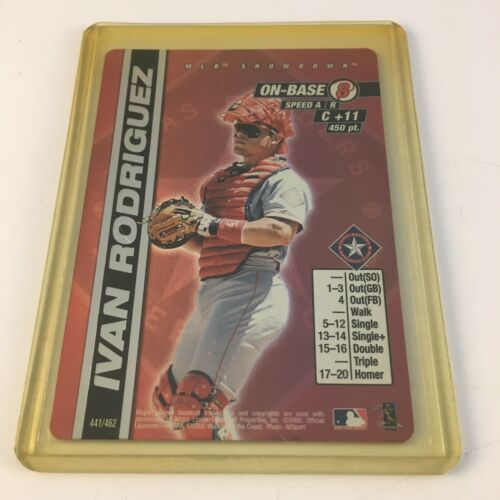 Primary image for 2000 MLB Showdown Baseball Ivan Rodriguez Texas Rangers 1st Edition Foil