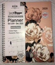 Plan Ahead See IT Bigger Oct 2019 - Dec 2020 Monthly/Weekly Large Planne... - $12.87
