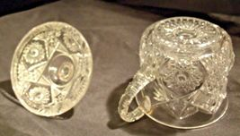 Glass Candy Dishes AB 366 Pair of Vintage Cut Glass image 10