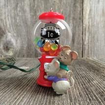 Vintage Mouse Goody Gumballs Christmas Ornament Candy Magic Gum Hallmark... - $29.99